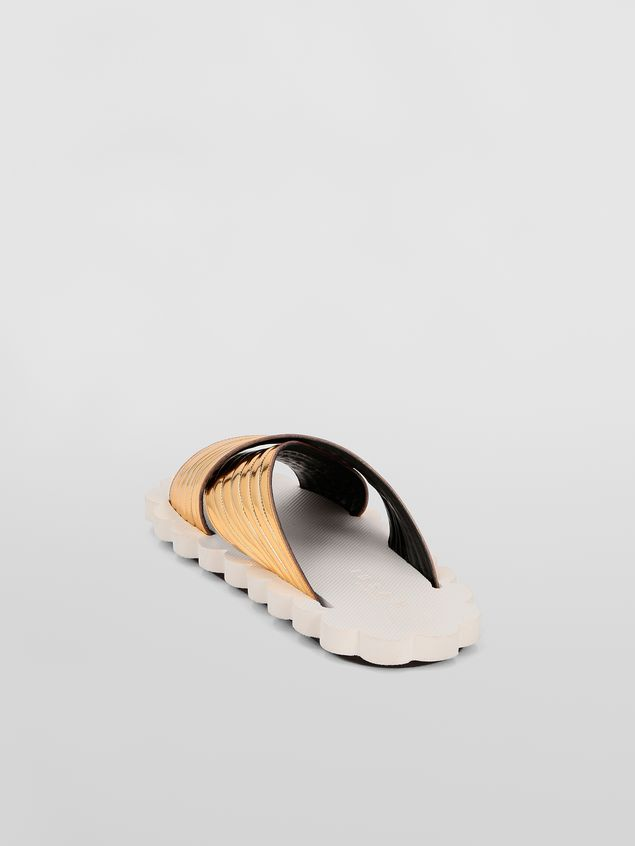 Marni Criss-cross sandal in laminated calfskin Woman - 3