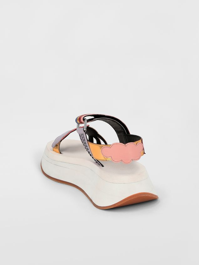 Marni Two-band sandal in goatskin  Woman