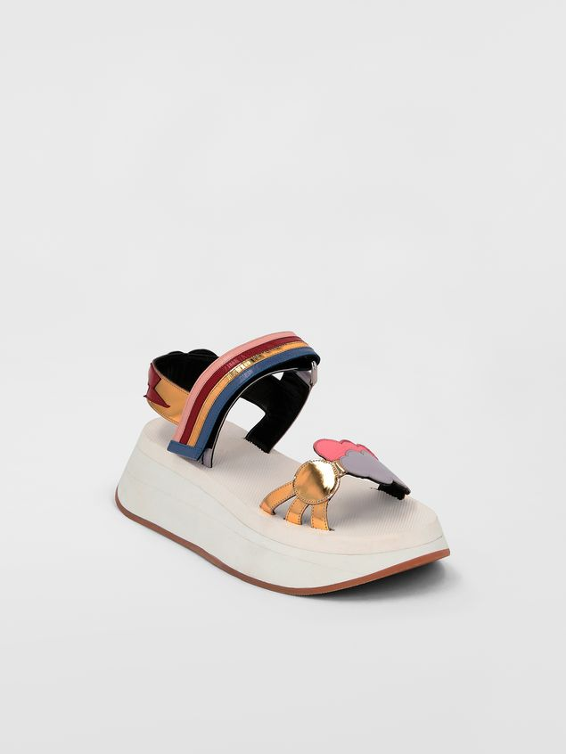 Marni Two-band sandal in goatskin  Woman - 2