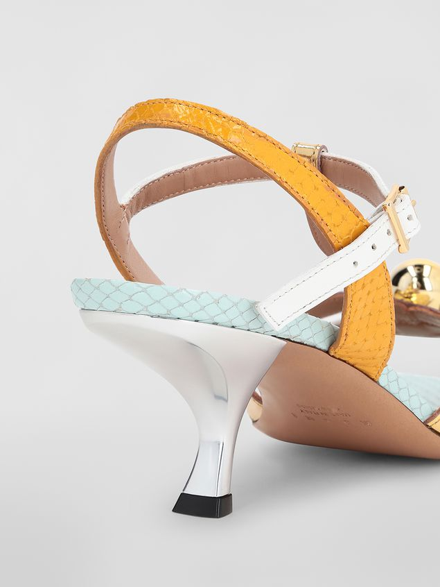 Marni T-strap sandal in python-print calfskin  Woman - 5