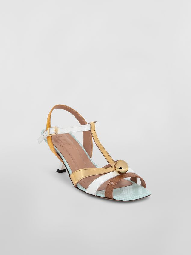 Marni T-strap sandal in python-print calfskin  Woman - 2