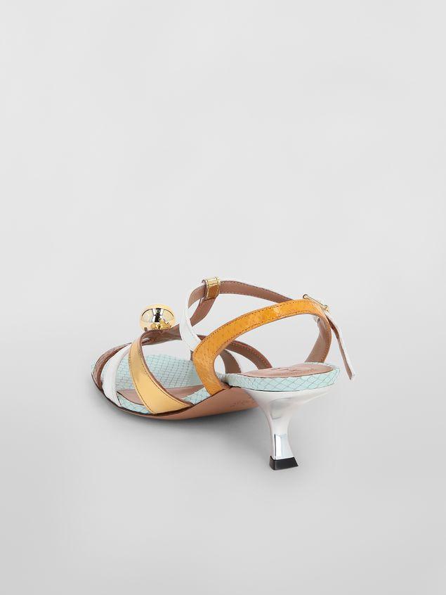 Marni T-strap sandal in python-print calfskin  Woman - 3