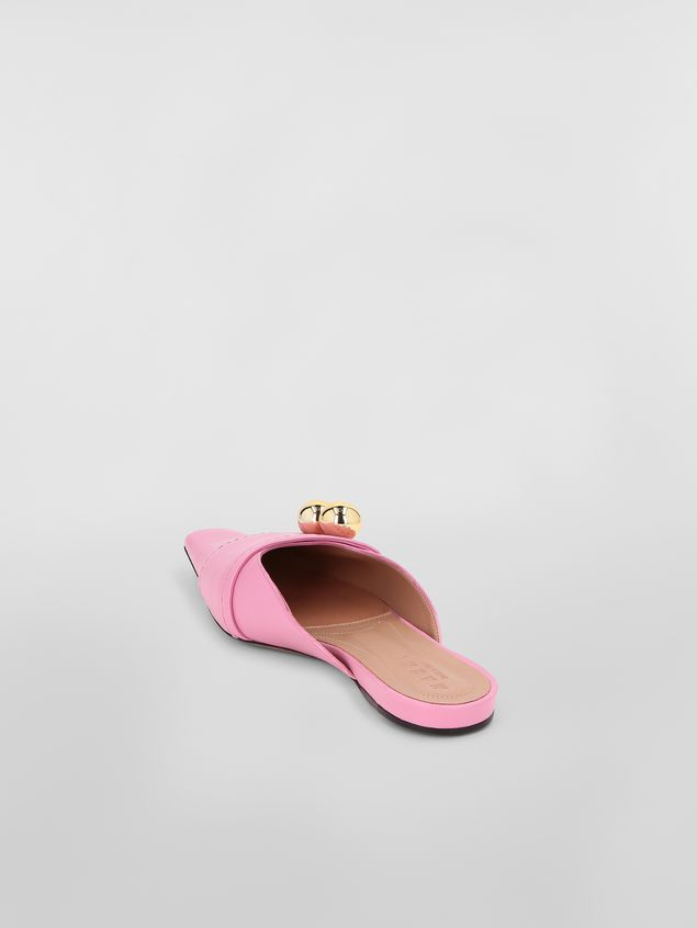 Marni Mule in pink lambskin  Woman