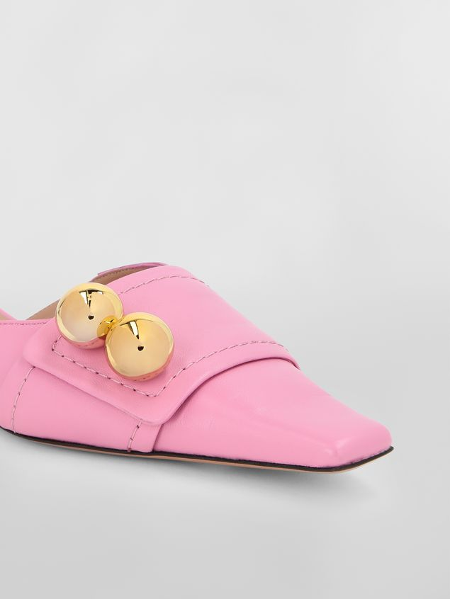 Marni Mule in pink lambskin  Woman - 5
