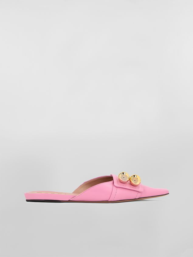 Marni Mule in pink lambskin  Woman - 1