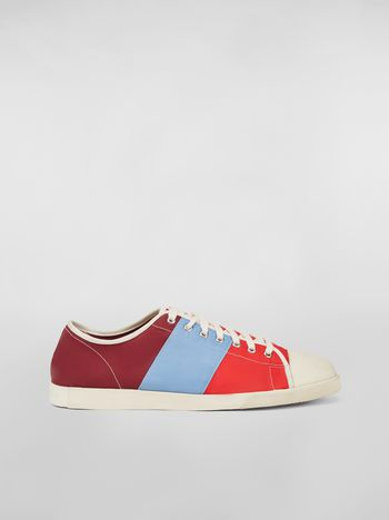 Marni Sneaker in techno jersey burgundy pale blue and red Man