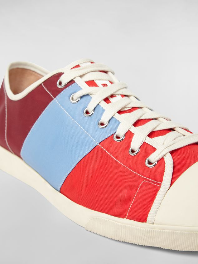 MARNI Sneakers Man Sneaker in techno jersey burgundy pale blue and red a