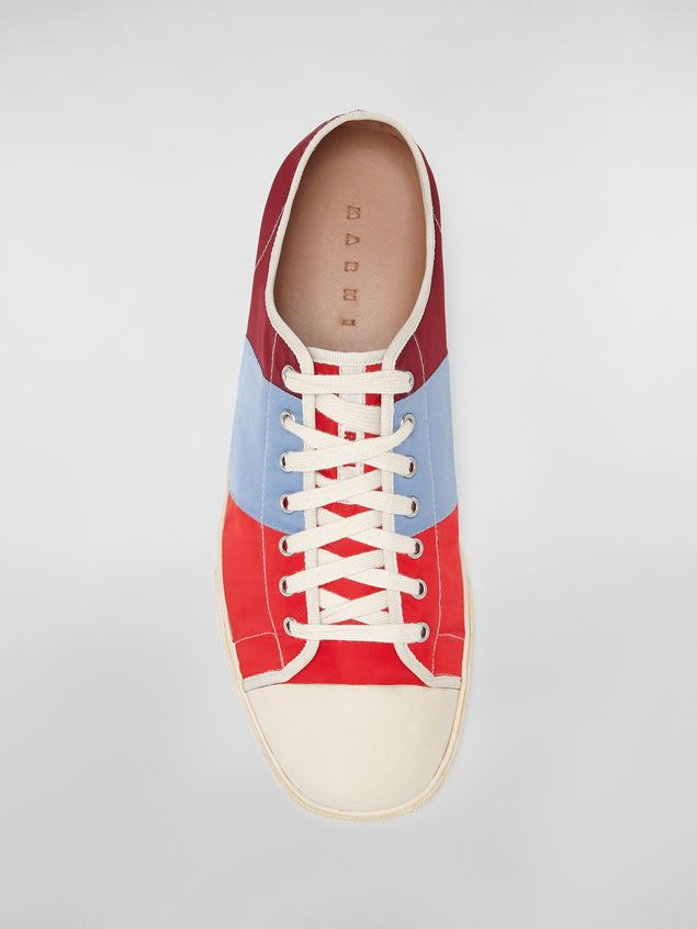 Marni Sneaker in techno jersey burgundy pale blue and red Man - 4