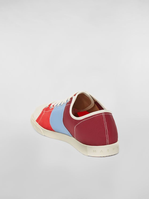 Marni Sneaker in techno jersey burgundy pale blue and red Man - 3