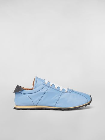 Marni Sneaker in techno jersey blue Man