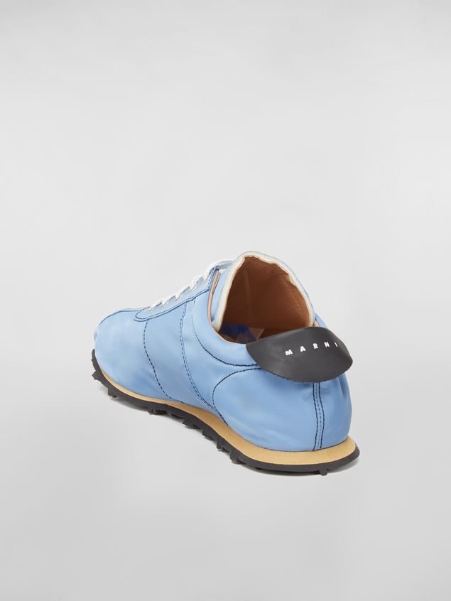 Marni Sneaker in techno jersey blue Man