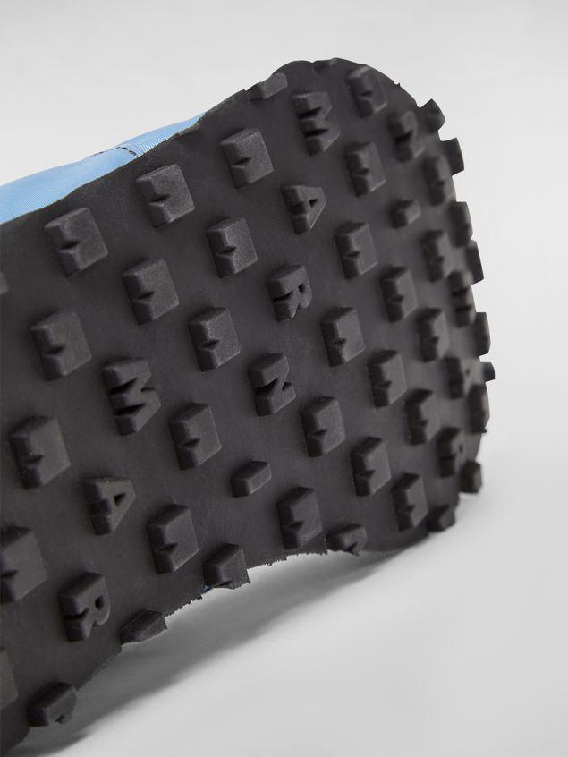 Marni Sneaker in techno jersey blue Man - 5