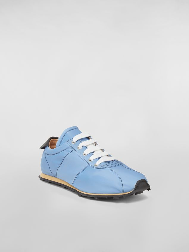 Marni Sneaker in techno jersey blue Man - 2