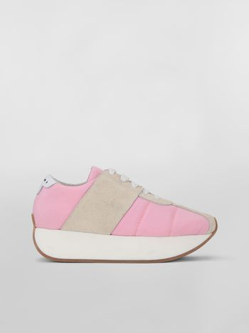 Marni Marni BIGFOOT sneaker in pink cordura  Woman
