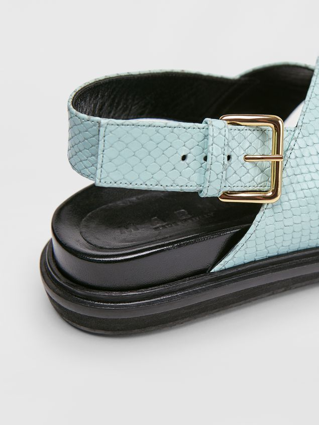 Marni Fussbett in light blue and brown python-print calfskin  Woman - 5