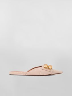 Marni Mule in tan lambskin Woman