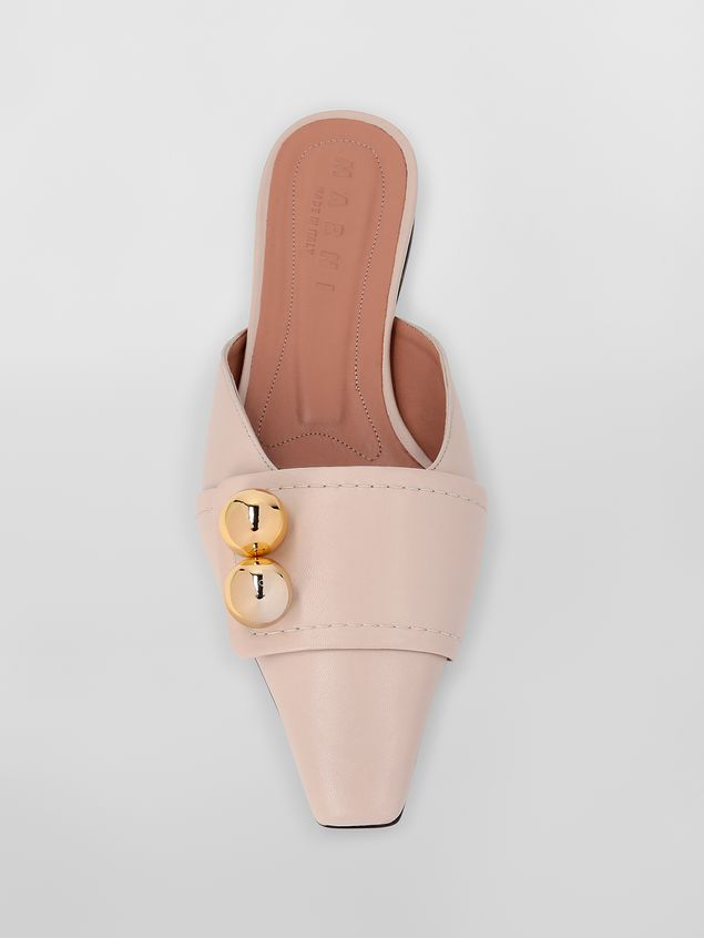 Marni Mule in tan lambskin Woman - 4