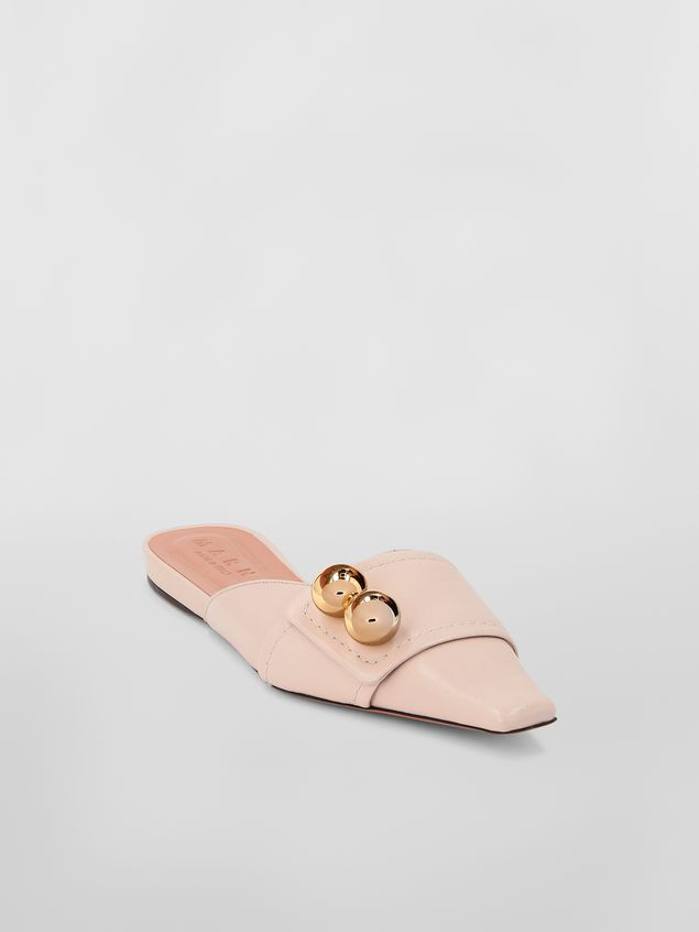 Marni Mule in tan lambskin Woman - 2