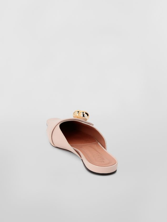 Marni Mule in tan lambskin Woman - 3