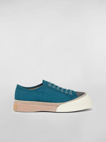 Marni Pablo Sneaker in canvas green Man f