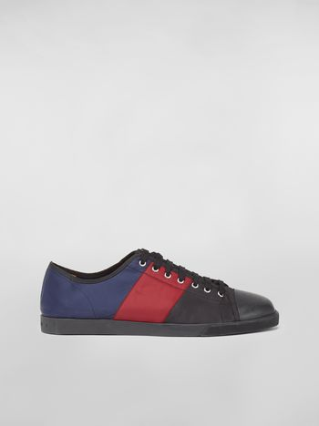 Marni Sneaker in techno jersey blue burgundy and black Man