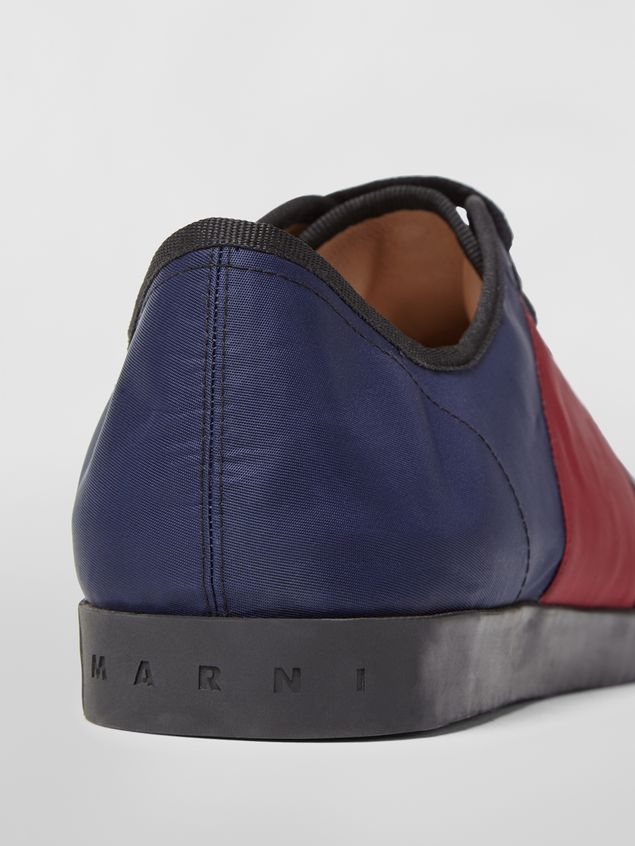 Marni Sneaker in techno jersey blue burgundy and black Man - 5