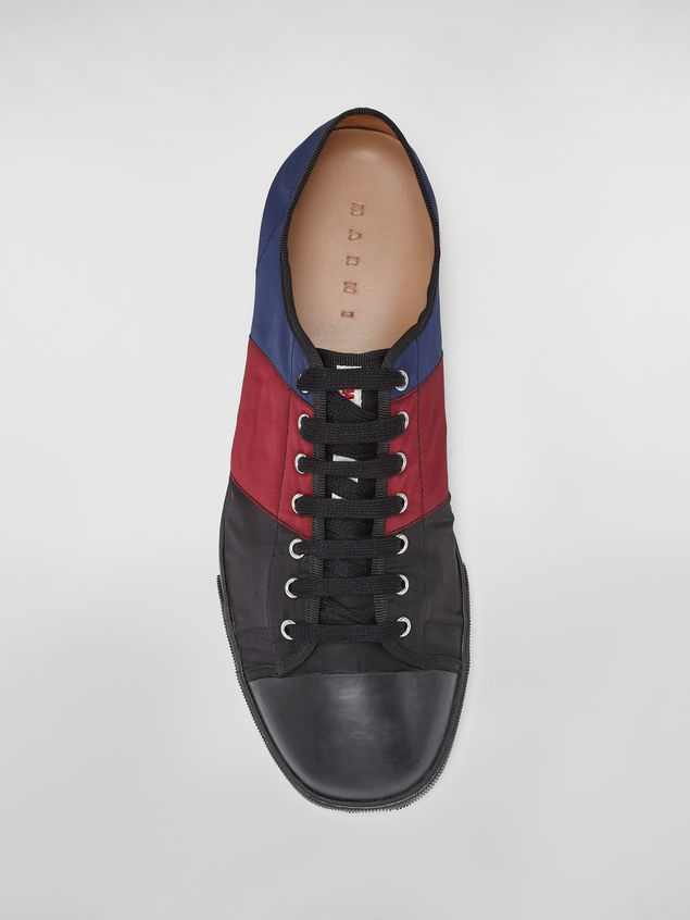 Marni Sneaker in techno jersey blue burgundy and black Man - 4