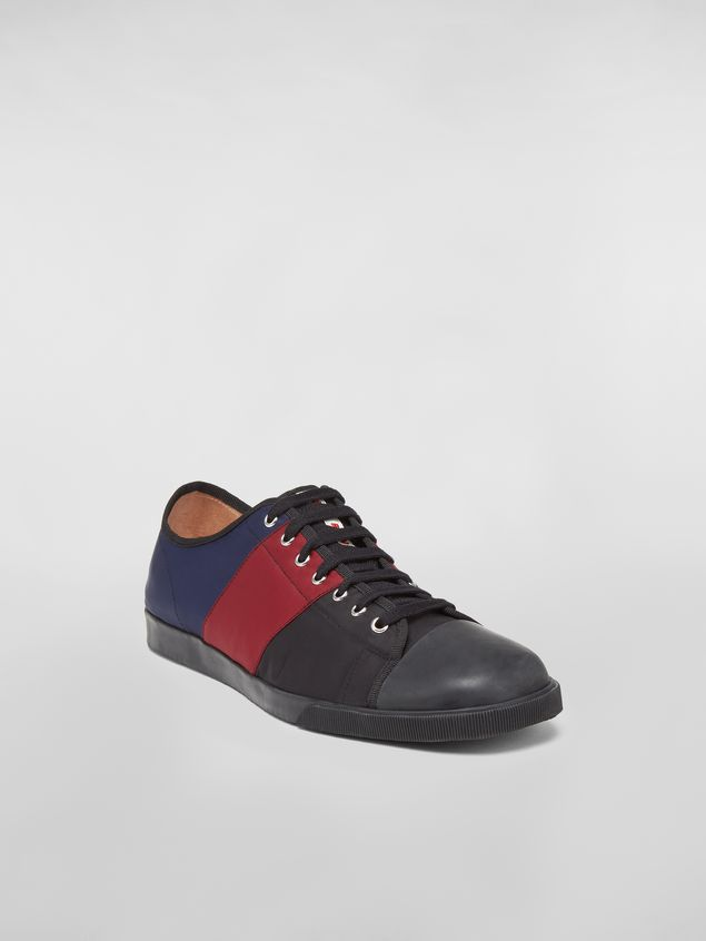 Marni Sneaker in techno jersey blue burgundy and black Man - 2