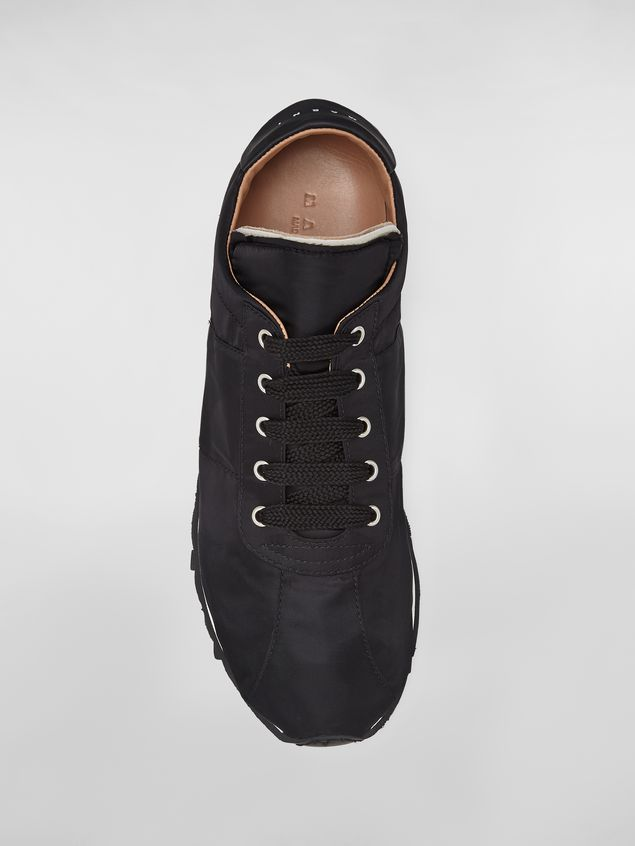 Marni Sneaker in techno jersey black Man - 4