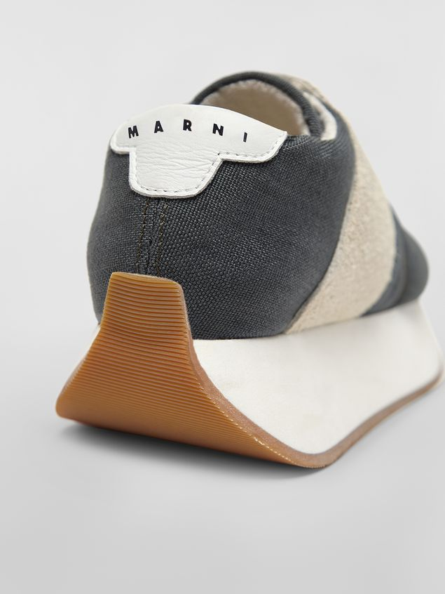 Marni Marni BIGFOOT sneaker in gray cordura  Woman - 5