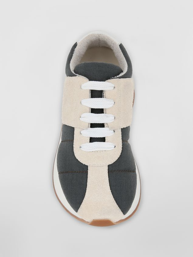 Marni Marni BIGFOOT sneaker in gray cordura  Woman - 4