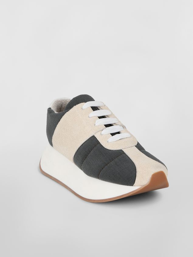 Marni Marni BIGFOOT sneaker in gray cordura  Woman - 2