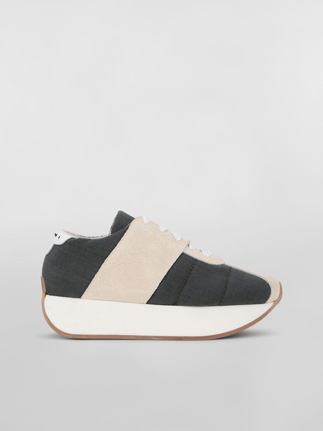 Marni Marni BIGFOOT sneaker in gray cordura  Woman - 1