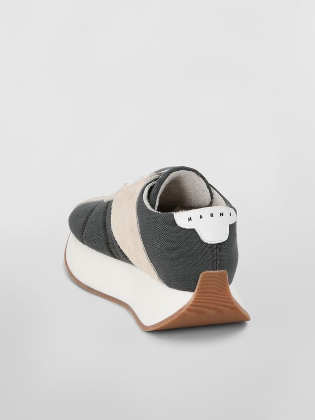 Marni Marni BIGFOOT sneaker in gray cordura  Woman - 3