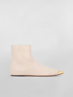 Marni Ankle boot in tan lambskin Woman