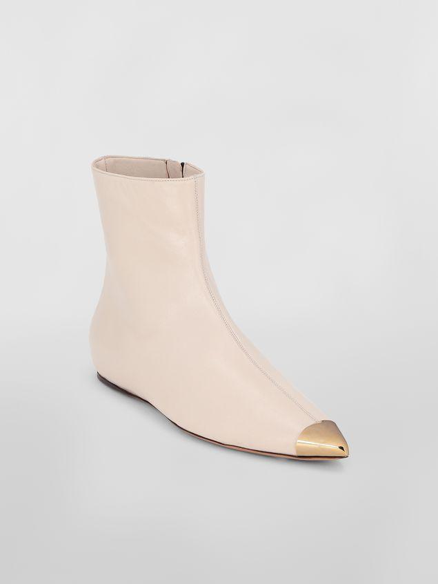 Marni Ankle boot in tan lambskin Woman - 2