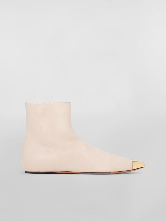 Marni Ankle boot in tan lambskin Woman - 1