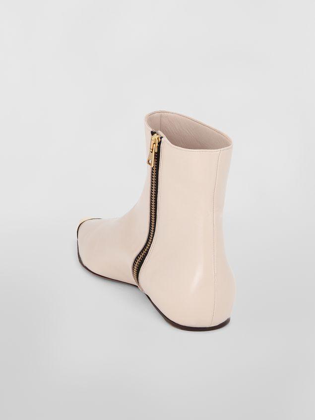 Marni Ankle boot in tan lambskin Woman - 3