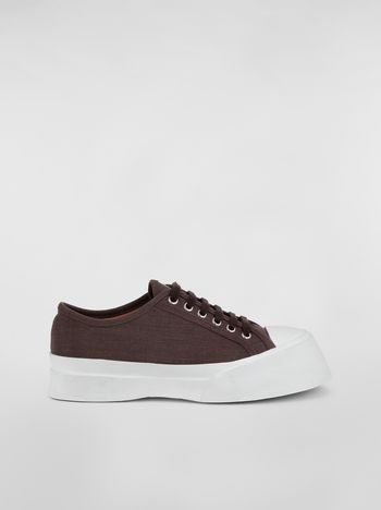 Marni Pablo Sneaker in brown canvas Woman