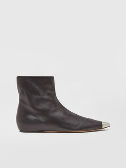 Marni Ankle boot in black lambskin Woman