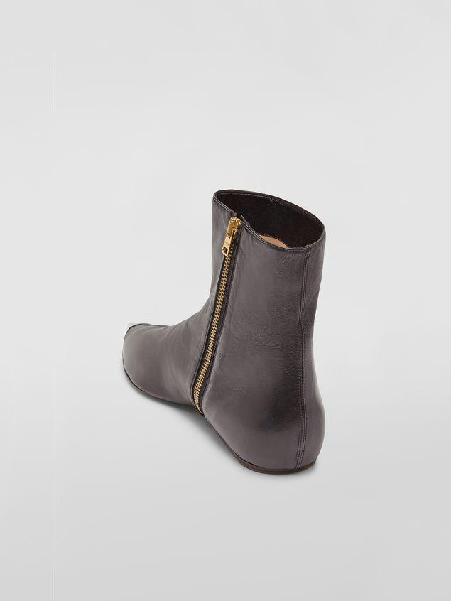 Marni Ankle boot in black lambskin Woman