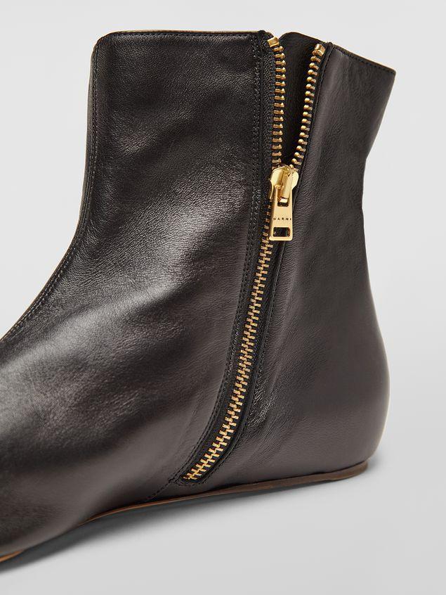 Marni Ankle boot in black lambskin Woman - 5