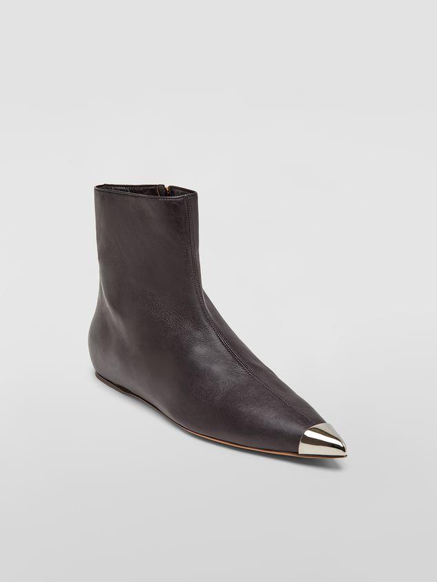 Marni Ankle boot in black lambskin Woman - 2