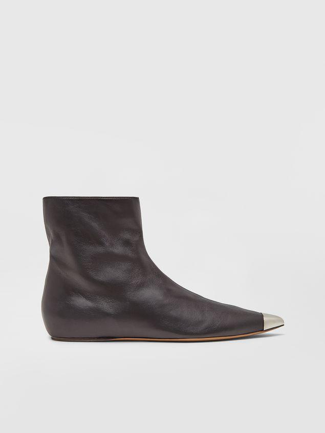 Marni Ankle boot in black lambskin Woman - 1