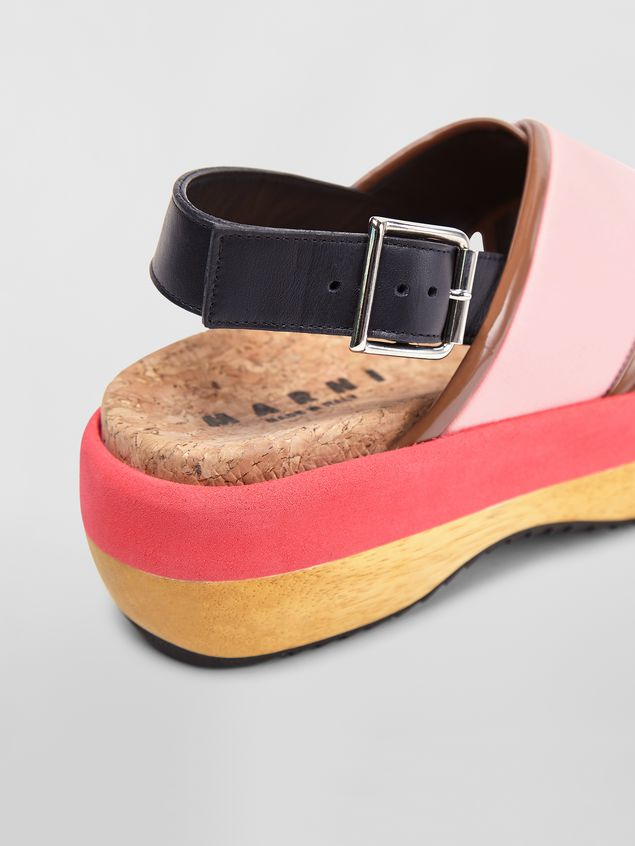 MARNI Wedges Woman Wedge in pink techno fabric a