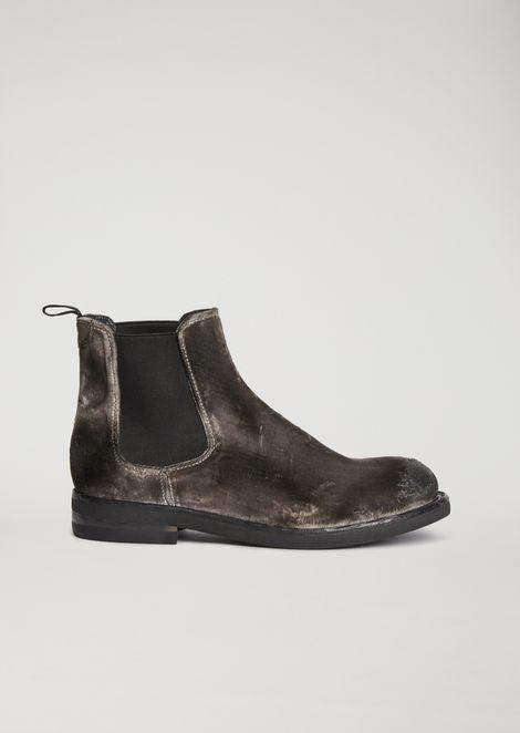 fcafd326ad0 Smart brushed velvet Beatle boots