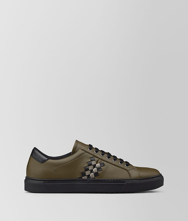 BOTTEGA VENETA SNEAKERS BV CHECKER EN CUIR DE VEAU Sport [*** pickupInStoreShippingNotGuaranteed_info ***] fp