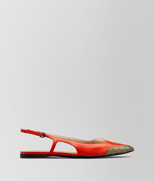 BOTTEGA VENETA TIPPIE BALLERINA IN SMOOTH KID Flat [*** pickupInStoreShipping_info ***] fp