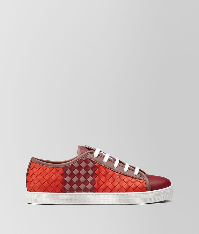 BOTTEGA VENETA CARMEL SNEAKER IN INTRECCIATO CHEQUER Trainers [*** pickupInStoreShippingNotGuaranteed_info ***] fp