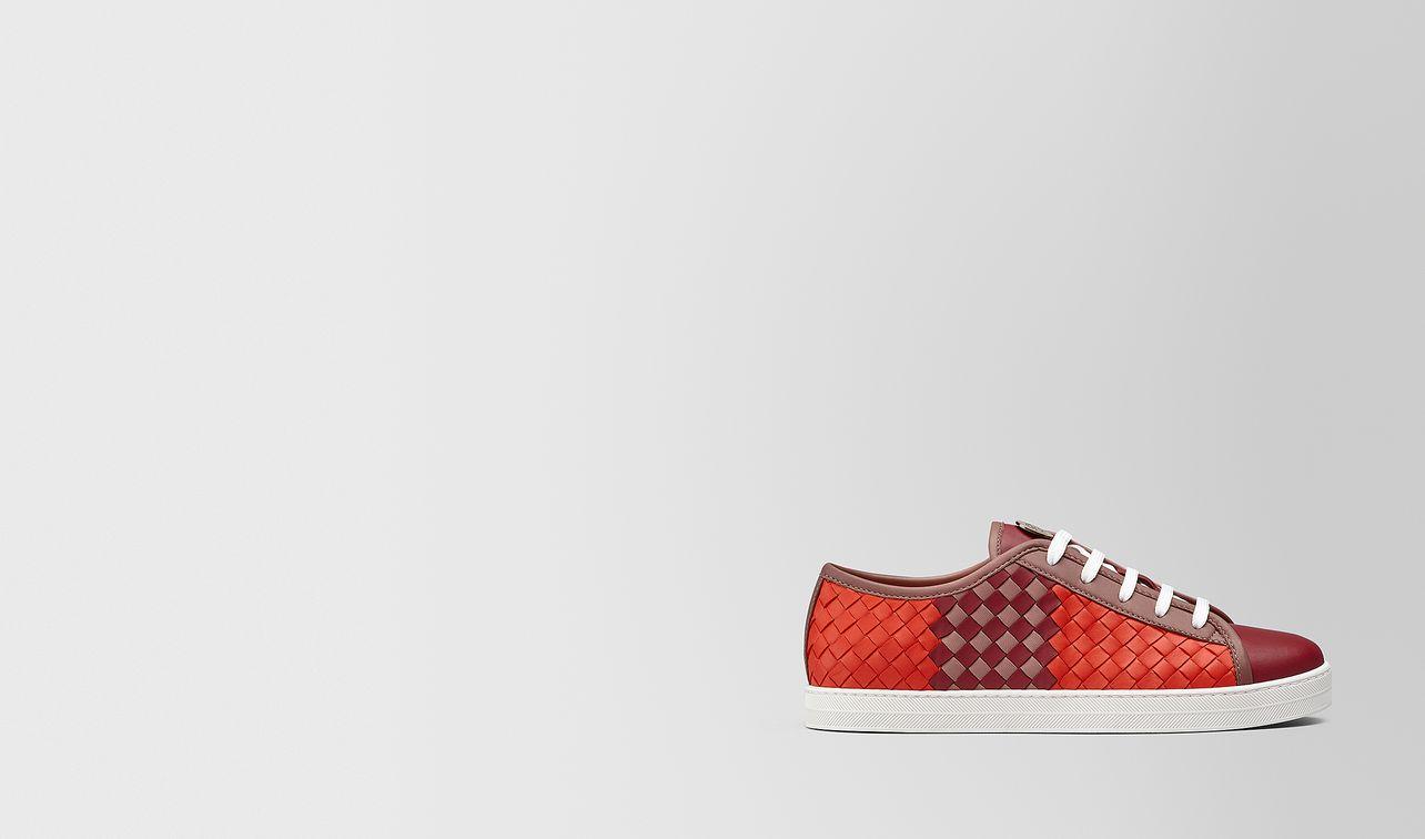 carmel sneaker in intrecciato checker  landing